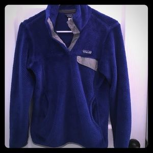 Patagonia pullover snap fleece jacket